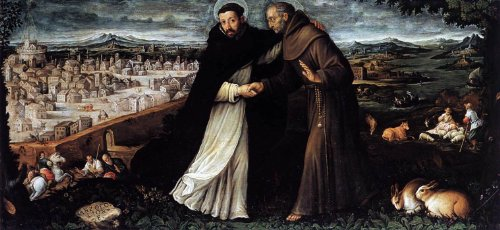 Angelo Lion St Dominic and St Francis - 15
