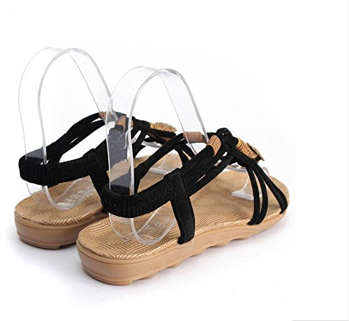 Brief Summer Flip Casual Ladies 2016 Herringbone Sandals Womens Gladiator A flop Shoes Highdas Black Fashion q4gw1