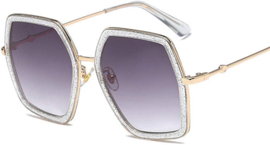 ZYJ Gafas de Sol hexagonales de Moda para Mujer Gafas graduadas de Colores Gafas de Sol UV400 para Mujer Gafas de Sol Retro octogonales Irregulares