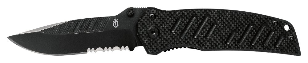 Gerber Swagger Knife, Serrated Edge, Drop Point [31-000594]