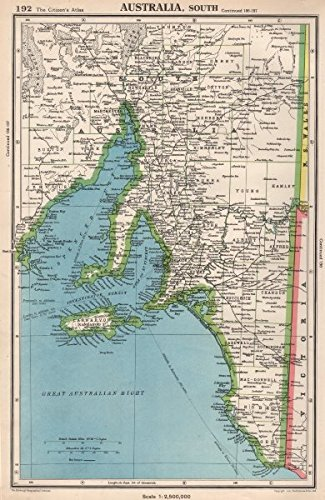 Amazon.com: SOUTH AUSTRALIA. showing counties. Spencer Gulf of St ...