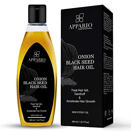 Appario Onion Black Seed Hair Oil – 200 ml | Onion Hair Oil For Hair Growth & Natural Hair Care | Onion Oil For Hair…
