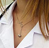 Silver Stethoscope Lariat Nurse Necklace Bracelet