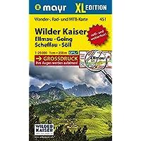 Wilder Kaiser - Ellmau - Going - Scheffau - Söll XL: Wander-, Rad- und Mountainbikekarte. GPS-genau. 1:25000 (Mayr Wanderkarten)