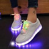 shihua Women's Glowing Light Sneakers, Medium