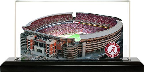 Alabama Crimson Tide Bryant-Denny Stadium Replica, Small Lighted in Display Case Stadium Display