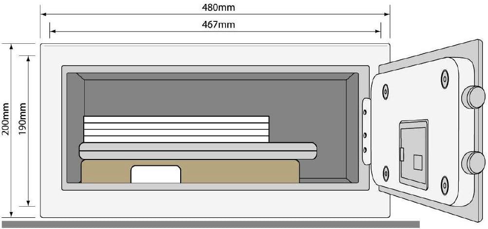 Format 25 x 35 x 30 cm Yale YSFM//250//EG1 Coffre-Fort Biom/étrique de Haute S/écurit/é Certifi/é SKG 18,6L Anthracite A Poser et Sceller Combinaison et Empreinte Digitale
