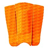 3pcs Orange Surfboard Traction Pad Tail Pad Deck Grip Accessory