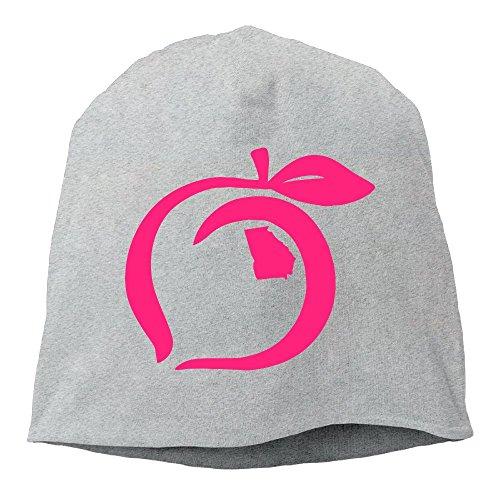 Vidalia Jelly (Rdiep Georgia Peach Pink Unisex Stretch Beanie Skull Cap Knit Hat For Men Women Ash Winter Hat)