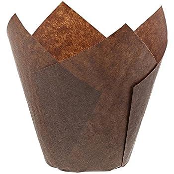 Royal Brown Tulip Style Baking Cups, Medium, Sleeve of 200