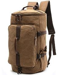 DesCanon Canvas Backpack Travel Backpack Daypack Hiking Camping Rucksack for Women Men 30L