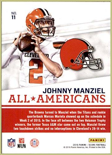 19133e3a4 2016 Score All Americans  11 Johnny Manziel HAMILTON TIGER-CATS CLEVELAND  BROWNS