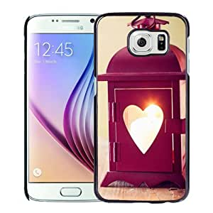Beautiful Custom Designed Samsung Galaxy S6 Phone Case For Red Love Heart Lantern Phone Case Cover