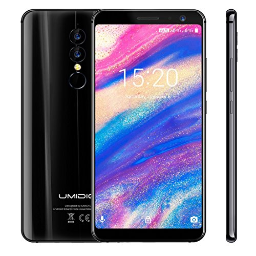 UMIDIGI A1 Pro 3GB+16GB Face & Fingerprint Identification 5.5 inch Android 8.1 MTK6739 Quad Core up to 1.5GHz GSM & WCDMA & FDD-LTE (Black)