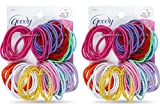 Goody Ouchless Elastic Ponytail Holders Gentle, No Metal #09427 (Colors Vary) [2 Pack of 72] Reviews
