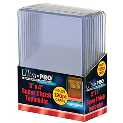 2 Ultra Pro 120pt Top Loader 20 Total (2 10ct Packages) 120 Pt for Thick Jersey Relic Cards: Sports & Outdoors
