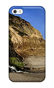 Awesome Case Cover/iphone 5/5s Defender Case Cover(falls To The Ocean Rock Water Beach Nature Other)
