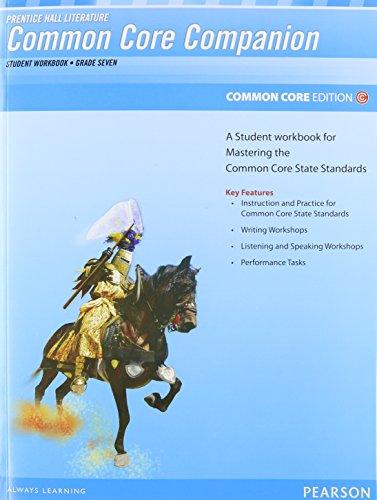 PRENTICE HALL LITERATURE 2012 COMMON CORE STUDENT WORKBOOK GRADE 7