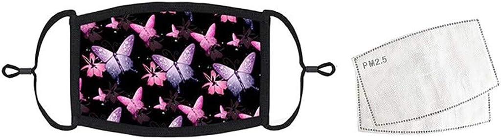 Eejiuqiba 3PC Unisex Reusable Face Bandanas for Adults Floral Printed Face Cloth Washable Dustproof Haze Windproof Headbands Breathable Replaceable Veil Face Guard