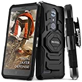 zte max for family mobile - ZTE MAX XL/ZTE Blade Max 3 / ZTE Max Blue Case, Evocel [New Generation Series] Belt Clip Holster, Kickstand, Dual Layer for ZTE N9560 / ZTE Z986 / ZTE N986, Black
