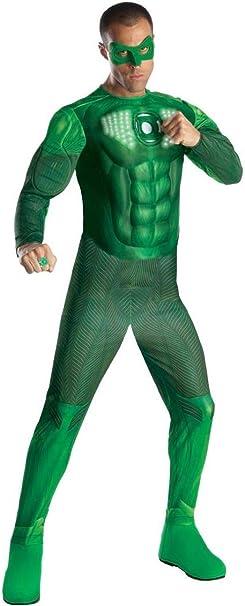 Amazon.com: Green Lantern Hal Jordan Deluxe Costume con la ...