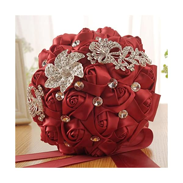 Wedding-Bouquet-YJYDADA-Crystal-Roses-Bridesmaid-Wedding-Bouquet-Bridal-Artificial-Silk-Flowers