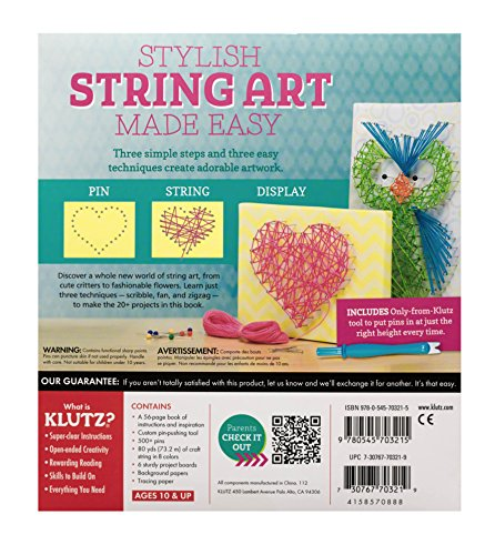 51iJRIfX2mL - Klutz String Art Book Kit