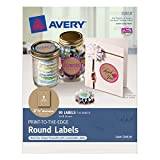 Avery Print-to-the-Edge Round Labels, Kraft Brown, 2-1/2