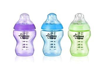 3x260 ml Tommee Tippee Flaschen-Pack Worlds Multi Color Jungen