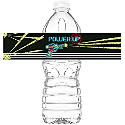 Laser Tag Bottle Wraps - Set of 20 - Laser Tag Water Bottle Labels - Paintball Decorations - Made in the USA