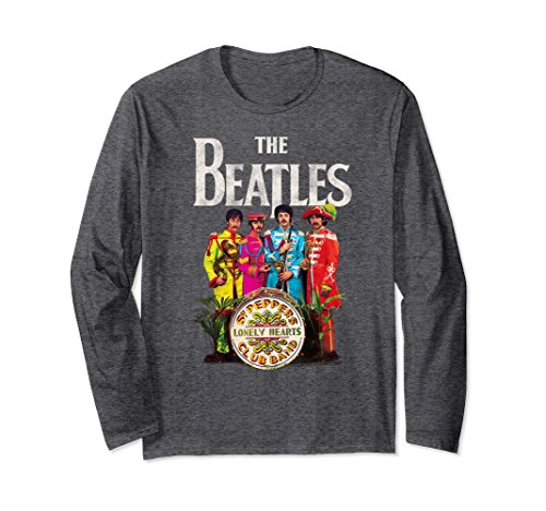 onely Hearts Sergeant Long Sleeve T-shirt Large Dark Heather (Beatles Lonely Hearts T-shirt)