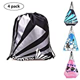 Drawstring Beach Bag Waterproof(4 pack)-Sports Swimming Backpack For Men Women Kids Youth Cinch Nap Sack Tote Bags for Picnic Gym Beach Travel Storage …