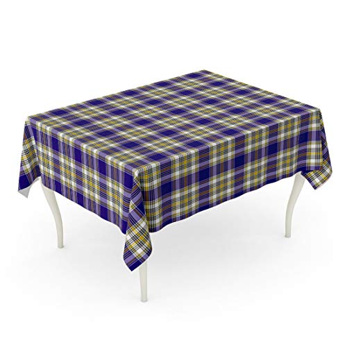 - Tarolo Rectangle Tablecloth 60 x 84 Inch Blue Ancient Patterned of The Clan Livingstone Dress Tartan Yellow Black Celtic Checkered Table Cloth