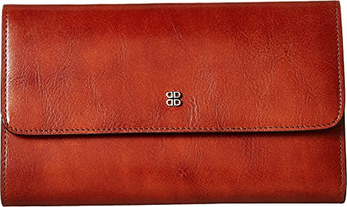 Bosca Women's Old Leather Checkbook Clutch Amber One Size by Bosca