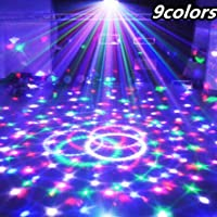 Best to Buy® ( 1-PACK ) 9 Colors 27W Crystal Magic Ball Led Stage Lamp 21Modes Disco Laser Light Party Lights Sound Control Christmas Laser Projector