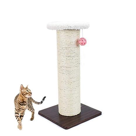 Wagyunfei Juguetes para Gatos Gato Afilado Equipo pequeño rascador Tridimensional sisal Gato arañazos Columna Gato Plataforma