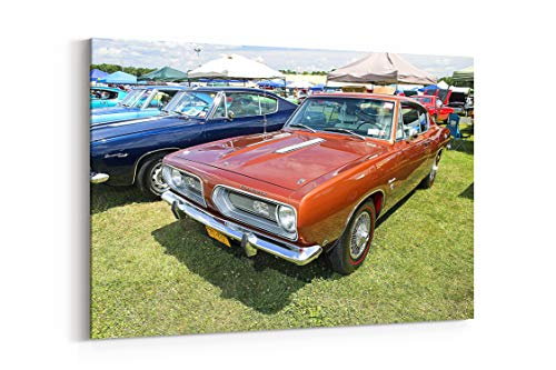 1968 Plymouth Barracuda Formula S Cars - Canvas Wall Art Gallery Wrapped 26