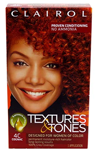 Clairol Textures & Tones Kit #4C Cognac (3 Pack)