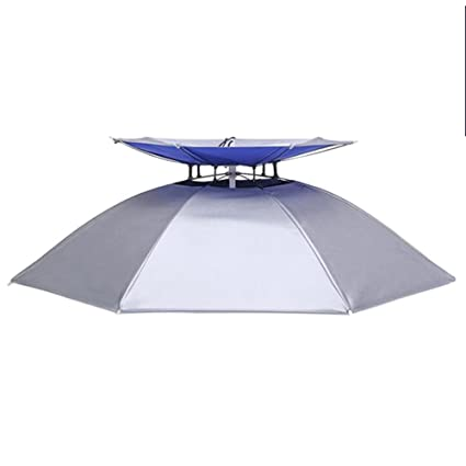 9649735d77f74 Double-deck Anti UV Umbrella Hat Breathable and Foldable Outdoor Sun Golf  Fishing Camping Lightweight