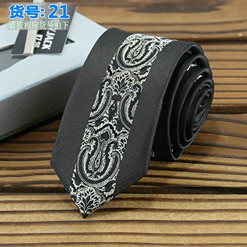 0af42bcea77b Amazon.com: Graven Skinny Ties for Men 6cm Positioning Jacquard Stripe  Polyester Gravata Kravat Wedding Business Dating Banque Necktie Neck Tie -  (Color: ...