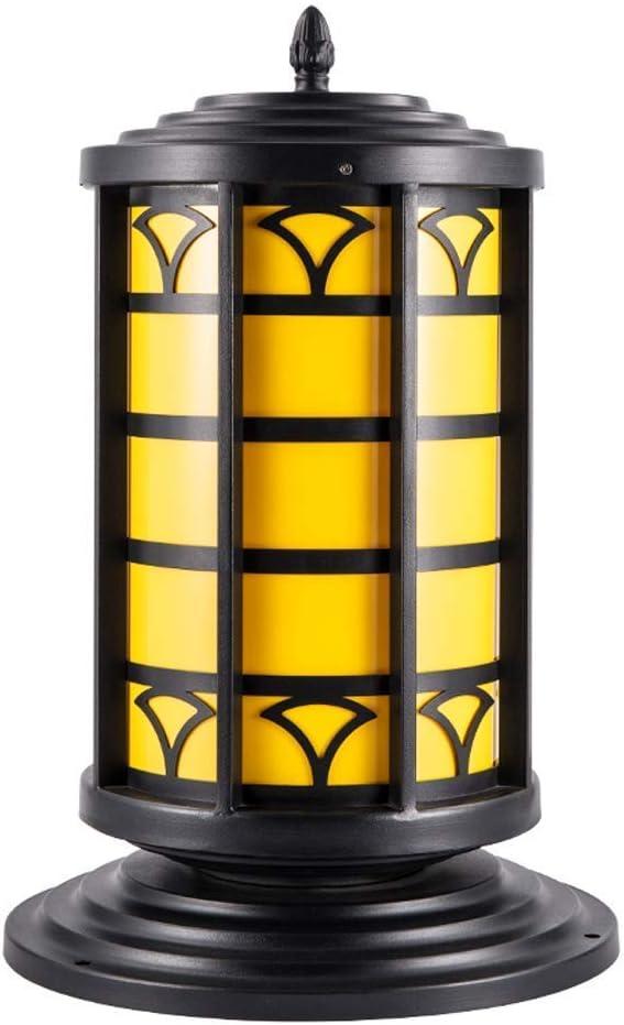XYJGWDD E27 Impermeable Al Aire Libre Luces de Poste de Hierro Forjado Europeam Hogar Pared Patio Jardín Villa Puerta Pilar Lámparas Luz Decoración para el hogar de Lujo Luces de Columna
