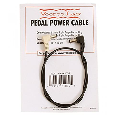 Voodoo Lab 2.1mm Reverse Polarity Barrel Cable - 18