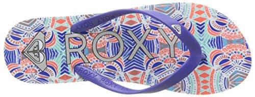 RoxyTahiti V - Sandalias de dedo Mujer Multicolor (Red/blue)