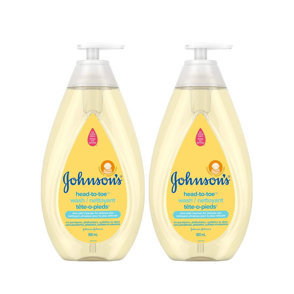 Johnson's Baby Wash and Shampoo (800mL) and Johnson's Baby Lotion (800mL), Head-to-Toe, Tear Free, Dual Pack Johnson and Johnson