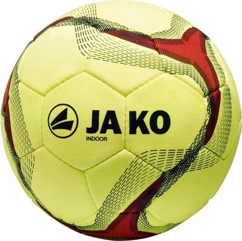 Jako Herren Fußball Ball Indoor, Gelb/Rot/Schwarz, 5, 2348