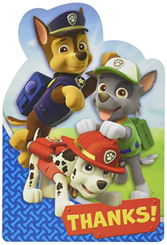 Amscan Amazing Paw Patrol Birthday Postcard Thank You Party Supplies (8 Piece), Blue/Red, 6 1/4 x 4 (Post Halloween Costume Sale)