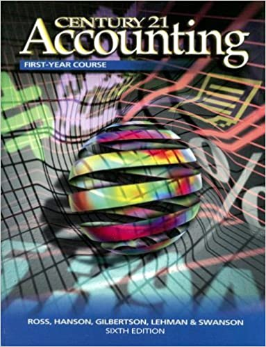 Century 21 Accounting First Year Book: Chapters 1-28: 6th