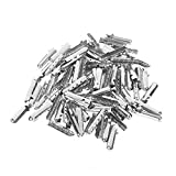 BCP 100 Pieces Shoelace Bullet Metal Tip Aglet Ends for Shoe Lace Tips Replacement DIY