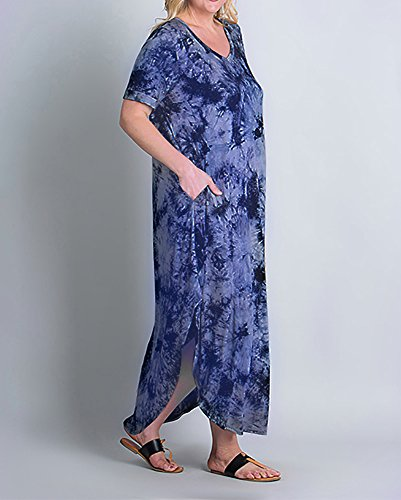V Neck Loose Maxi Dresses Dress Size Rotita Sleeve Womens Pregnant Casual Plus 1 Style Short nqXWgBwY