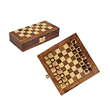 Classic Christmas Gift Wooden Foldable Chess Set with Storage Box for Pieces Travel Indoor Game